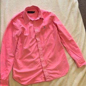 Neon pink polo Ralph Lauren oxford
